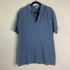 burberry brit blue grey polo size xlarge
